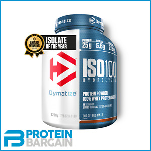 Dymatize ISO 100 - 100% Whey Protein Isolate 900g / 2.2kg 73 Serve + FREE SHAKER
