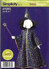 Simplicity E1985 Toddler Witch/Wizard Costume Sizes A (1/2-4) Uncut Halloween