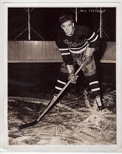 NEIL COLVILLE GENUINE ORIGINAL 8x10 TYPE 3 NHL PHOTOGRAPH 1935-49 NY RANGERS HOF