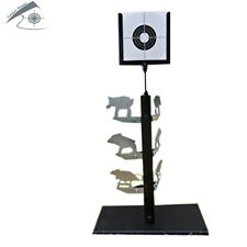 Durable Airgun Spinner Target with 20 pcs of Paper Targets comes with base