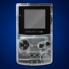 Game Boy Color Housing Shell Clear White Repair Kit Case Nintendo Contact Pads
