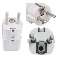 Portable UK US AU to EU European Power Socket Plug Adapter Travel Converter NEW