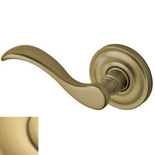 Baldwin Wave Lever Left Hand Half Dummy - Antique Brass