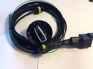 VW CADDY  2004- 2014 BRITISH MADE Fog Light Harness Loom/Chrome Switch