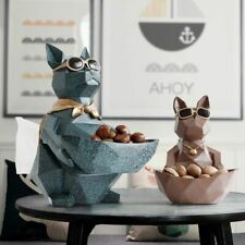 Cat Dog Figurines Resin Moden Crafts Animals Miniature Cute Ornaments For Home