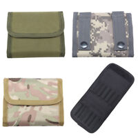 12pcs Bullet Stock Tactical Molle Rifle Ammo Pouch Bag Foldable Case Outdoor Box