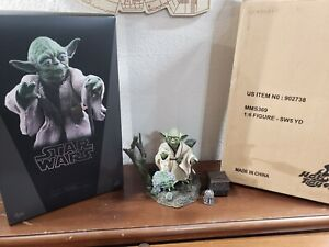 Hot Toys Star Wars Yoda The Empire Strikes Back Episode 5 Figure 100% Complete!