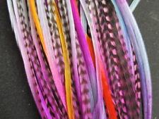 """feathers for hair extensions 28 tye dye bulk wholesale kit 5-11"""""""