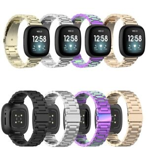 For Fitbit Sense Strap Stainless Steel Watch Band