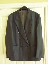 Lyn Oakes tailor made grey pinstriped suit  40 inch large