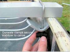 Canoe Gunwale Clamps - 1 pair -  Clamps a Crossbar Down Securely