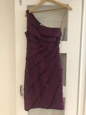 London Times Size 2 (Uk 6/8)Purple / Dark Pink Tiered Cocktail Party Dress BNWT