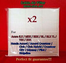 x2 C35519 CABIN AIR FILTER ACCORD CIVIC CRV MDX RDX RL TL TSX CF10134