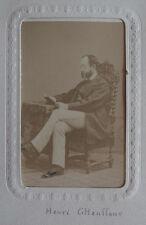 Photo Albuminé Cdv Militaire Henri GHauffour Colmar Vers 1860