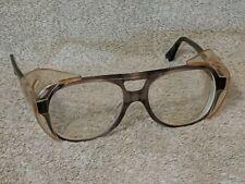 Vtg Smoke Titmus Z87.1 Safety Glasses w/CS84 shields Rx/Bifocal lenses