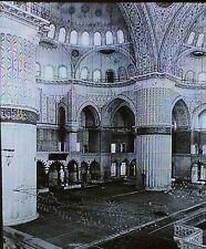 Mosque of Ahmed I, Interior, Constantinople, Turkey, Magic Lantern Glass Slide