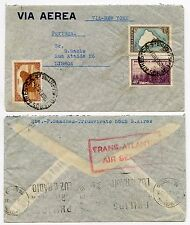 ARGENTINA to PORTUGAL RED BOXED TRANSATLANTIC AIR SERVICE 1940