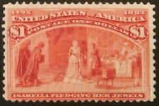 Scott #241, $1 Columbian, unused, expertly regummed, Avg-Fine