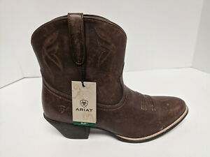 Ariat Darlin Cowboy Boots, Distressed Brown, Womens 9.5 M