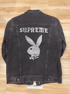 Supreme x Playboy Denim Jacket Black Size Medium AUTHENTIC CLASSIC S/S 2014