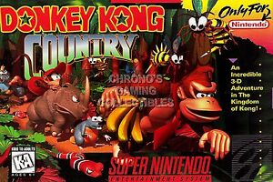 RGC Huge Poster - Donkey Kong Country Super Nintendo SNES BOX ART - DKY004