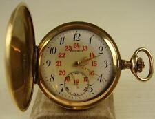 Antike DRUSUS Sprungdeckel Taschenuhr Vergoldet um 1920