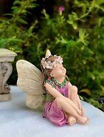 Miniature Dollhouse FAIRY GARDEN ~ Mini Fairy Girl Lauren Figurine ~ NEW