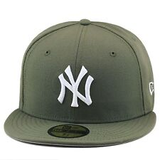 reputable site b20d9 5eb48 New Era New York Yankees Fitted Hat OLIVE GREEN WHITE For air force 1
