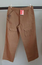 "SALTROCK Cropped/short leg brown 28"" UK 6-8 Beach Surf Skate shorts trousers"