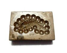 VINTAGE - INDIA HAND ENGRAVED - BRONZE JEWELRY DIE MOLD / MOULD - TTFEBD5