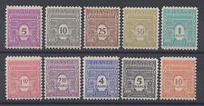 timbres de France n° 620/629 neufs** année 1944
