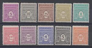 (a21) timbres de France n° 620/629 neufs** année 1944