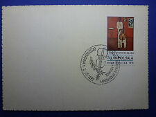 LOT 12583 TIMBRES STAMP ENVELOPPE MUSIQUE POLOGNE ANNEE 1972