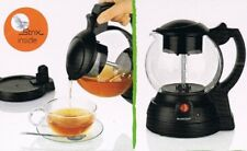 Elektrischer Teekocher 650 W, 1 L, Glaskanne kabellos, Steigrohr-Brühverfahren
