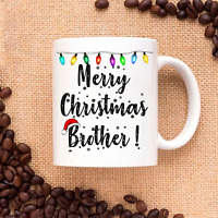 Merry Christmas Brother-Xmas Gift for Family and Friends - Coffee Mug Tea Cup