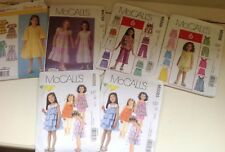 Lot Of 6~Girl's Clothing Patterns~Simplicity McCall's~Sizes 1-8~2005-2008