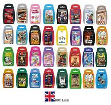TOP TRUMPS CARD GAMES Family Kids Fun Travel Holiday Playing Game Christmas Gift