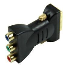 1x DVI-I24 + 5 male a 3x RCA femelle Adaptateur Convertisseur (noir) I2O4