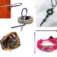 1SetDIY Portable Paracord Stitching Needles  Lacing Smoothing Tool For Bracelets
