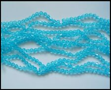 6mm Bicone AQUAMARINE 50 A-Grade Crystal Glass Beads faceted Suncatcher Jewelry