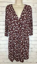 Kaileigh Romper Maroon Floral Sz Large Stitch Fix Pockets