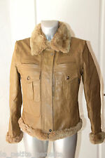 luxueux blouson modulable cuir et lapin rex WEEKEND MAXMARA taille 40 val 1300€