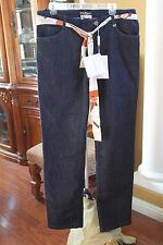 Salvatore Ferragamo PANTS Jeans TROUSERS Blue US 12 EU 48 Womens LONG INSEAM 35
