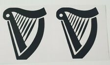 X2 Guinness Vinyl Stickers Bar Decal Glass stickers home bar Guinness harp gift