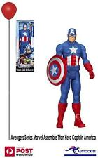 "MARVEL AVENGERS ASSEMBLE TITAN HERO SERIES CAPTAIN AMERICA FIGURE 12"" BNIB"