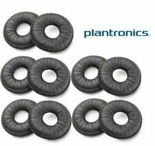 10 Plantronics Leather Ear Cushions 67063-01 for H141 H141N CS50 CS55 CS60 M175C