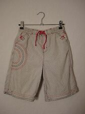 Ben Sherman white, grey & red swim shorts age 9-10 years