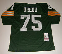 PACKERS Forrest Gregg signed STAT jersey w/ HOF 77 5X Champs Ironman JSA AUTO