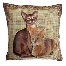 Egyptian Cats Tapestry Cushion Cover - 50x50cm