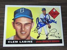 1995 Dodgers Archive #105 Clem Labine Autographed / Signed card Brooklyn Dodgers
